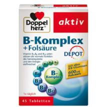 Doppelherz aktív B-komplex + Folsav DEPOT 45 db