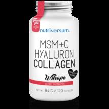 Nutriversum MSM+C Hyaluron Collagen (kollagén) - 120 kapszula