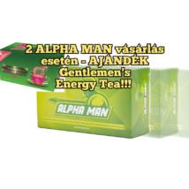 ALPHA MAN – IMMUNERŐ, POTENCIANŐVELŐ AKCIÓS csomag 2db + ajándék 1 db Gentlemen's Tea