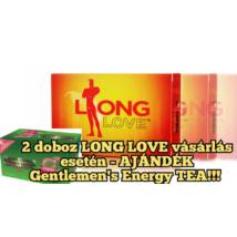 LONG LOVE potencianövelő korai magömlésre akciós csomag 2 db + ajándék 1 db Gentlemen's Tea